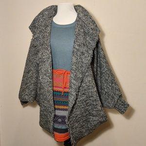 Jackets & Blazers - Vintage Oversized Tweed Batwing Sweater/Jacket